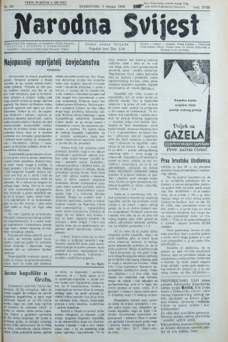 Narodna svijest, 1936/26