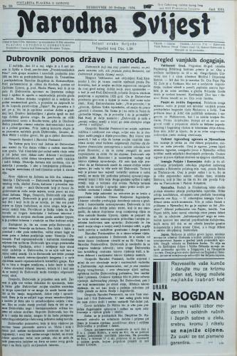 Narodna svijest, 1934/20