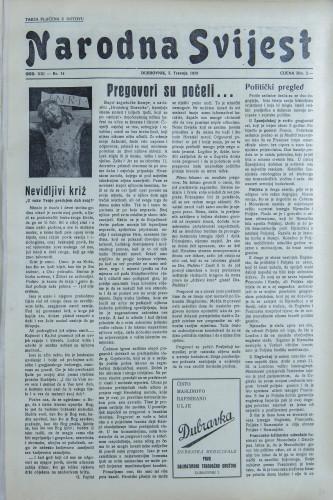 Narodna svijest, 1939/14