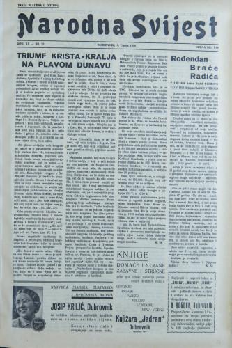 Narodna svijest, 1938/23