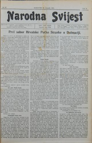 Narodna svijest, 1920/43