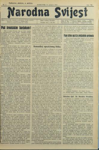 Narodna svijest, 1925/2