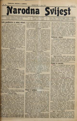 Narodna svijest, 1923/25