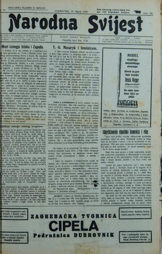 Narodna svijest, 1930/11