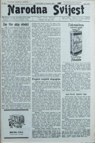 Narodna svijest, 1934/50