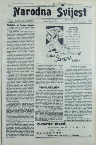 Narodna svijest, 1932/31