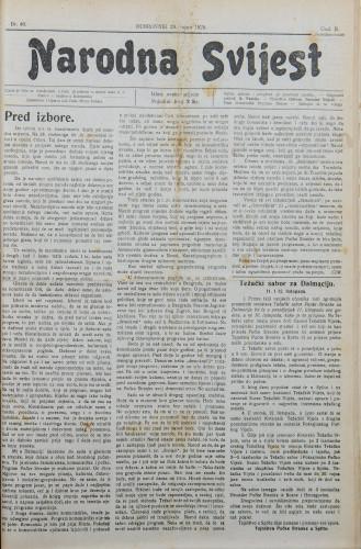 Narodna svijest, 1920/40