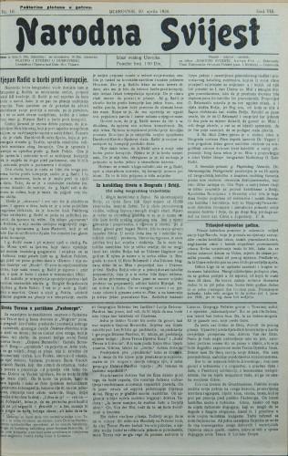 Narodna svijest, 1926/16