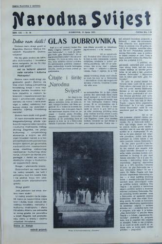 Narodna svijest, 1939/26
