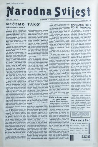 Narodna svijest, 1937/44