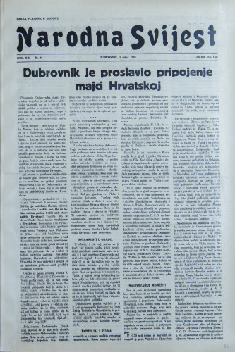 Narodna svijest, 1939/36