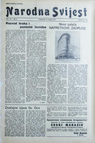 Narodna svijest, 1937/55