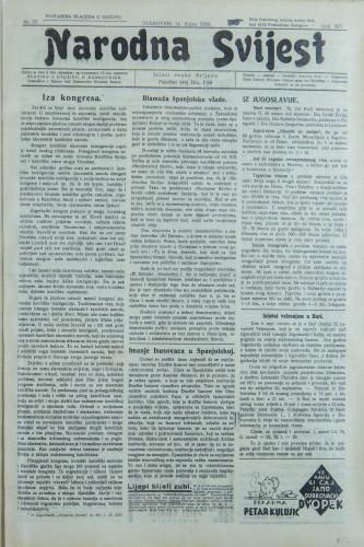 Narodna svijest, 1932/37