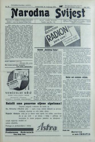 Narodna svijest, 1932/48
