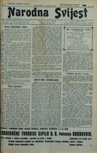 Narodna svijest, 1930/35
