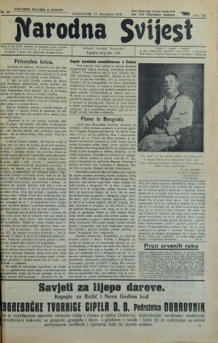 Narodna svijest, 1930/50