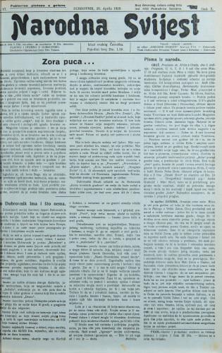 Narodna svijest, 1928/17