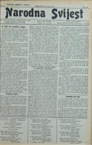 Narodna svijest, 1927/13