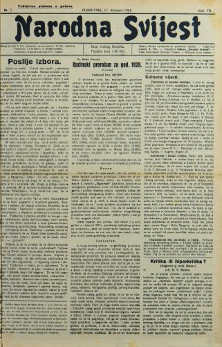 Narodna svijest, 1925/7