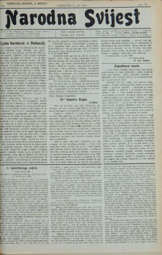 Narodna svijest, 1924/29