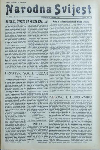 Narodna svijest, 1940/43