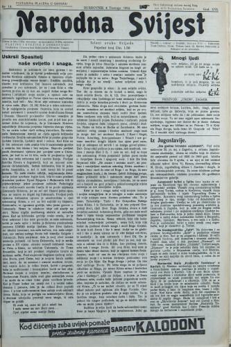 Narodna svijest, 1934/14