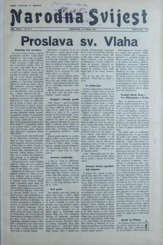Narodna svijest, 1941/6, 7