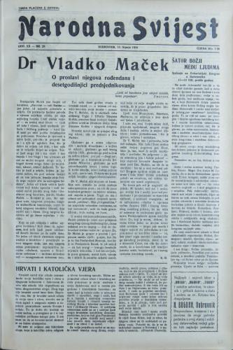 Narodna svijest, 1938/28