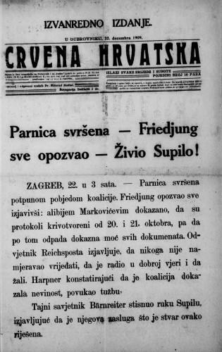 Crvena Hrvatska/izvanredno izd.