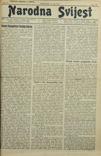 Narodna svijest, 1925/29