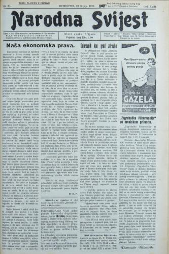 Narodna svijest, 1936/30