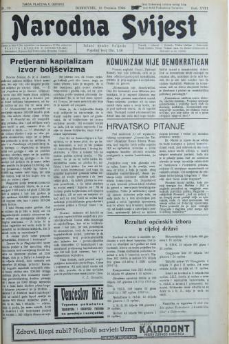 Narodna svijest, 1936/50