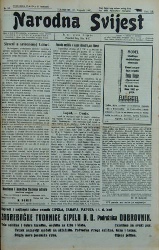 Narodna svijest, 1930/34