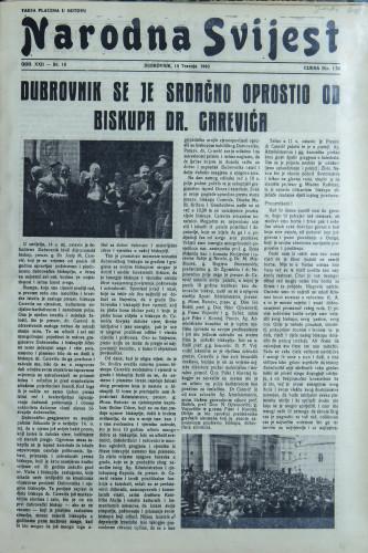 Narodna svijest, 1940/16