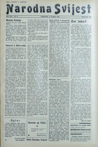 Narodna svijest, 1940/42