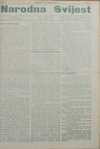 Narodna svijest, 1919/11