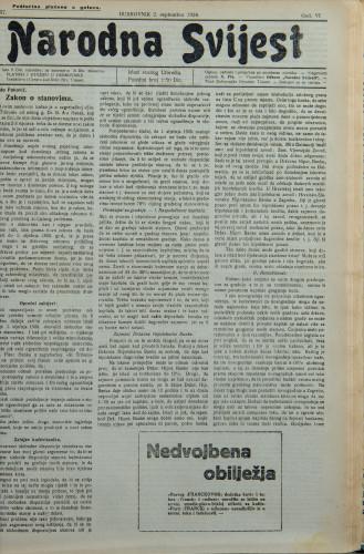 Narodna svijest, 1924/37