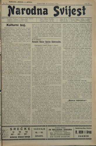 Narodna svijest, 1924/51