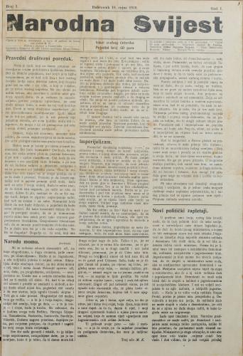 Narodna svijest, 1919/3