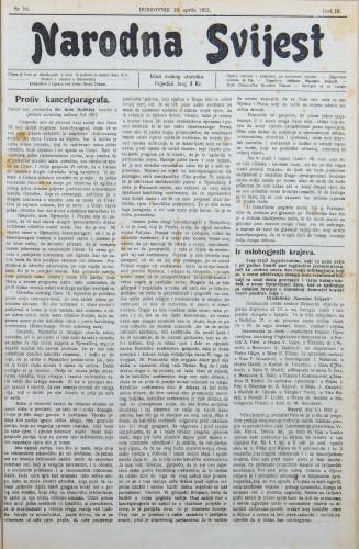 Narodna svijest, 1921/16