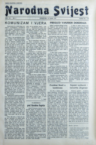 Narodna svijest, 1937/8