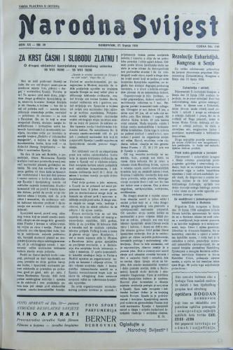 Narodna svijest, 1938/30