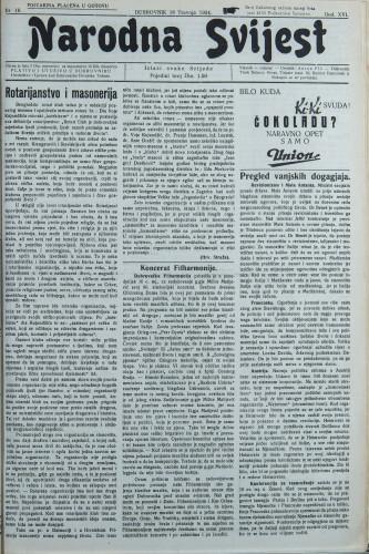 Narodna svijest, 1934/16