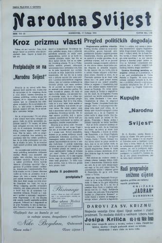 Narodna svijest, 1939/20