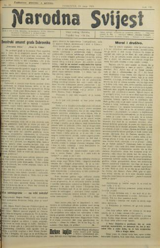 Narodna svijest, 1925/20