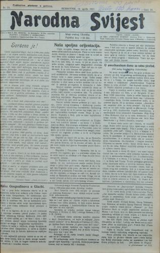 Narodna svijest, 1927/15