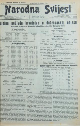 Narodna svijest, 1927/4
