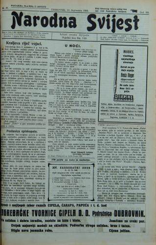 Narodna svijest, 1930/36