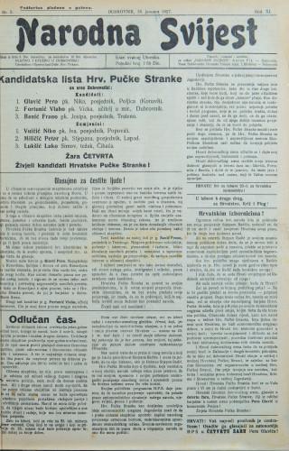 Narodna svijest, 1927/3