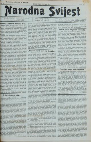 Narodna svijest, 1924/30
